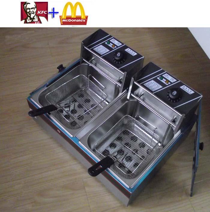 Bếp chiên nhúng đôi KFC McDonalds