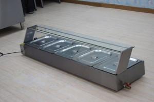 Tủ giữ nóng và trưng bày thức ăn mặt kính