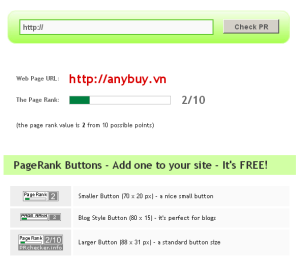 ANYBUY.VN lên pagerank 2