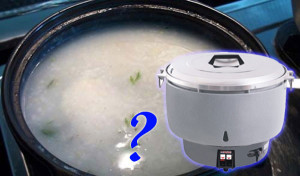 Nấu cháo bằng nồi cơm gas có được không?