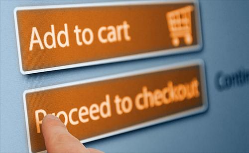 Những nút bấm màu cam sẽ kích thích người mua hàng. Ảnh: Shutterstock