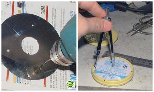 Khoan 3 lỗ trên nắp kim loại