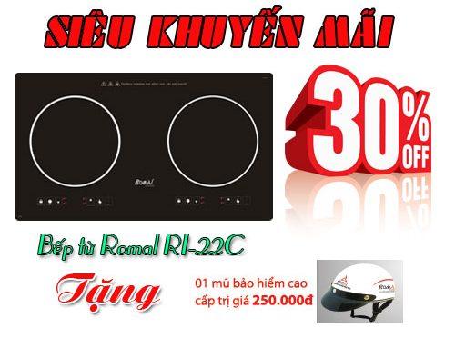 Siêu khuyến mãi khi mua bếp từ đôi Romal RI-22C trong tháng 5