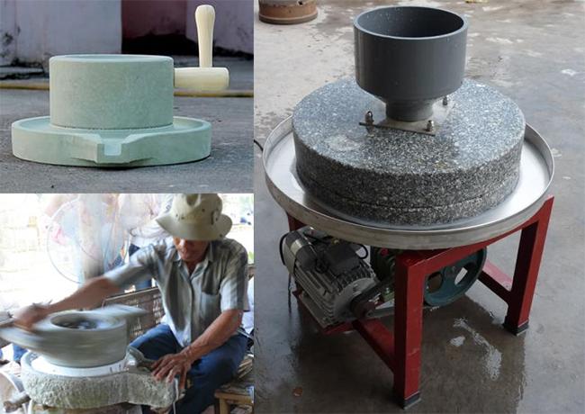 Xay bột bằng cối đá