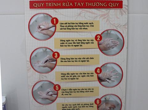 Hướng dẫn quy trình rửa tay cụ thể