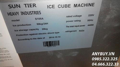 Các thông số kỹ thuật phía sau máy