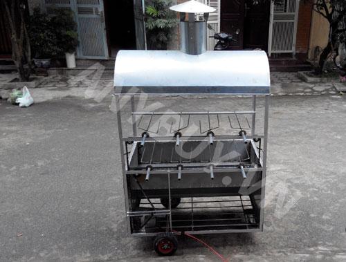 Lò nướng vịt 2 tầng 8 xiên quay