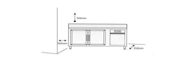 Đặt bàn cách tường 15 cm
