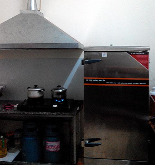 Không gian trong phòng bếp