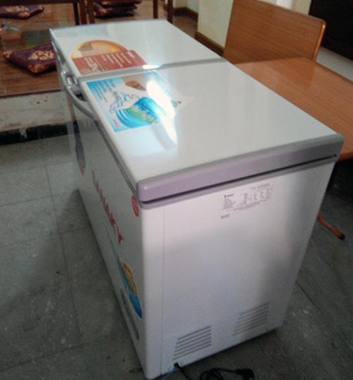 Và một tủ đông để bảo quản đồ ăn cho phòng bếp