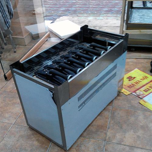 Lò nướng 6 họng gas có thể thực hiện nhiều món nướng