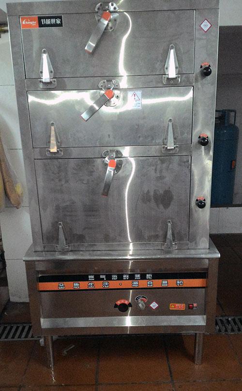 Tủ hấp hải sản 3 tầng dùng gas tại Canaval