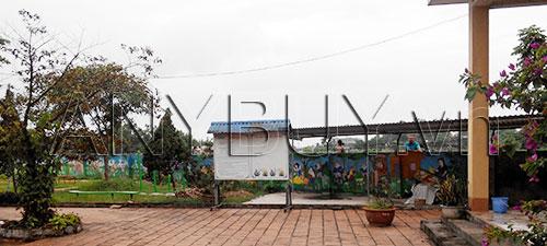 Khuân viên trường mầm non Tân Hưng