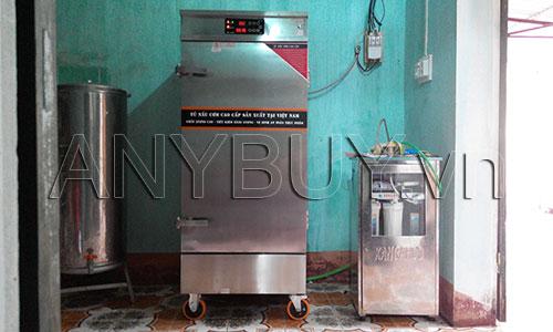 Lắp đặt hoàn thiện tủ nấu cơm điện tử cho nhà trường