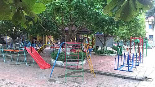 Khuân viên trường mầm non xã Xương Lâm