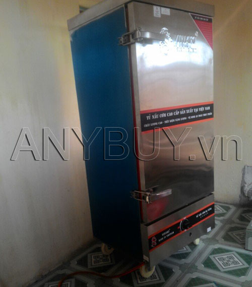 Tủ nấu cơm 12 khay gas Ninh Bình