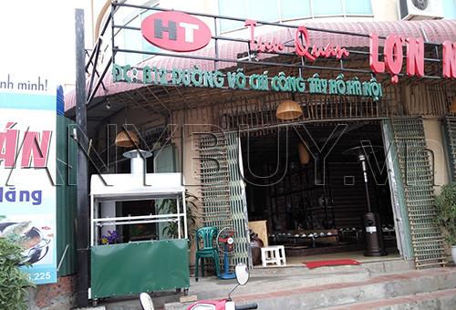 Lò nướng ở Tửu Quán dùng nướng các món nướng như thịt lợn, thịt chó