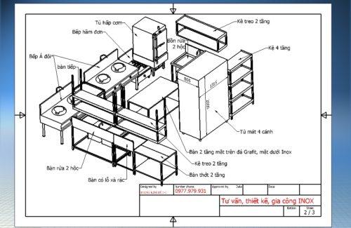 Mô hình thiết kế gian bếp Á