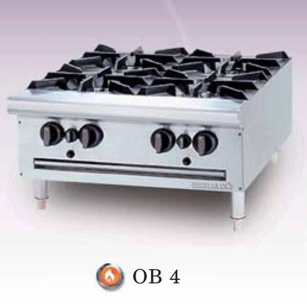 Bếp âu Berjaya 4 họng dùng gas OB-4