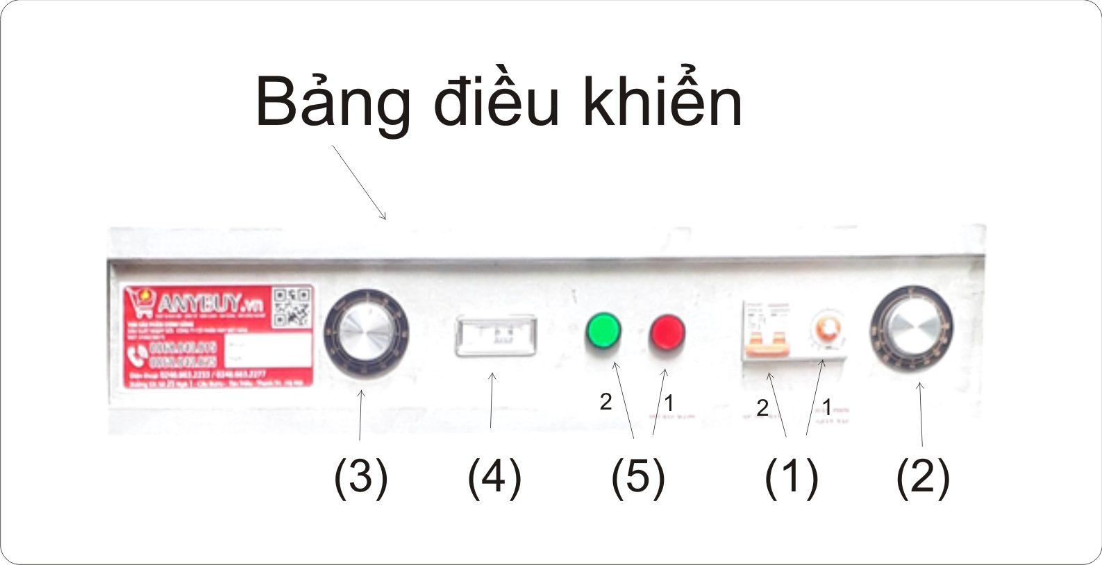 Bảng điều khiển tủ nấu cơm điện Aptomat