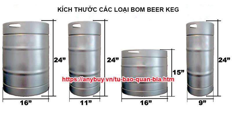 Các loại Tủ bảo quản bia beer keg ANY Việt Nam