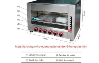 Hướng dẫn sử dụng lò nướng 6 họng gas