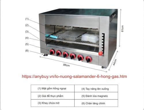 Hướng dẫn sử dụng Lò nướng 6 họng gas hay còn gọi bếp nướng 6 họng gas