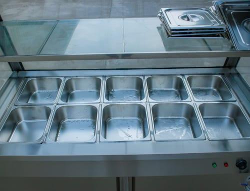 Tủ giữ nóng thức ăn sử dụng căn tin bệnh viện, trường học, các quán cơm, …