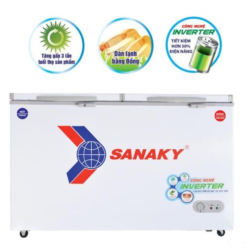 Tủ đông mát sanaky vh-4099w3 công nghệ inverter