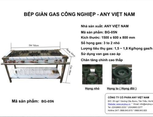 Bếp giàn gas công nghiệp 3 to 2 nhỏ BG-05N